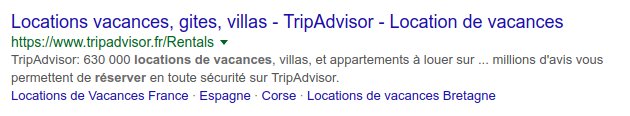 Exemple de description tronquée sur Google